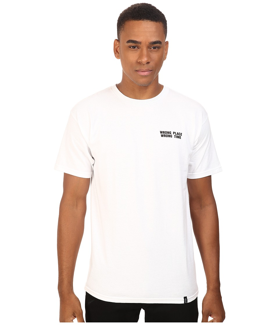 HUF - Wrong Place Wrong Time Tee (White) Men's T Shirt