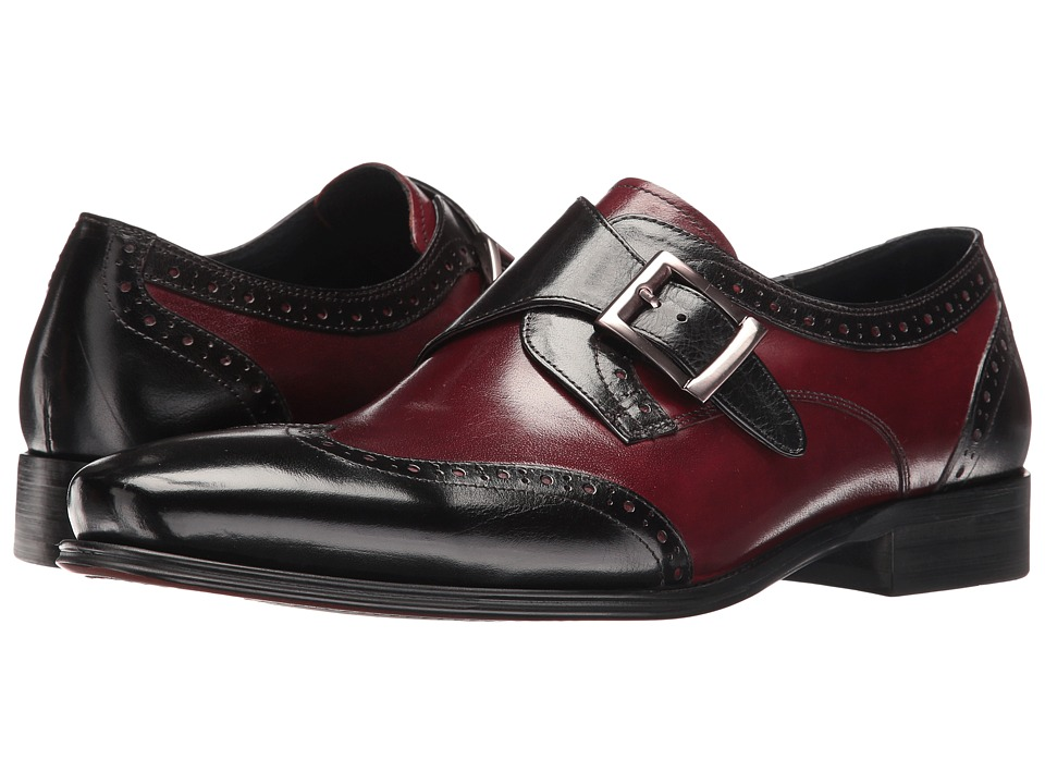 Carrucci - Strap It (Black/Burgundy) Men's Shoes