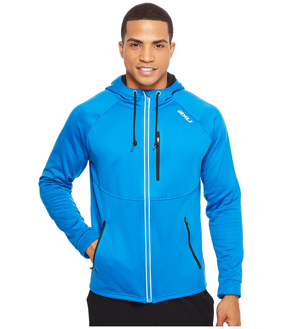 2XU - X-CTRL Hoodie (Director Blue/Black) Men's Sweatshirt