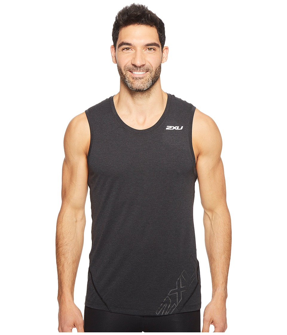 2XU - X-CTRL Muscle Tank Top (Black/Black) Men's Sleeveless