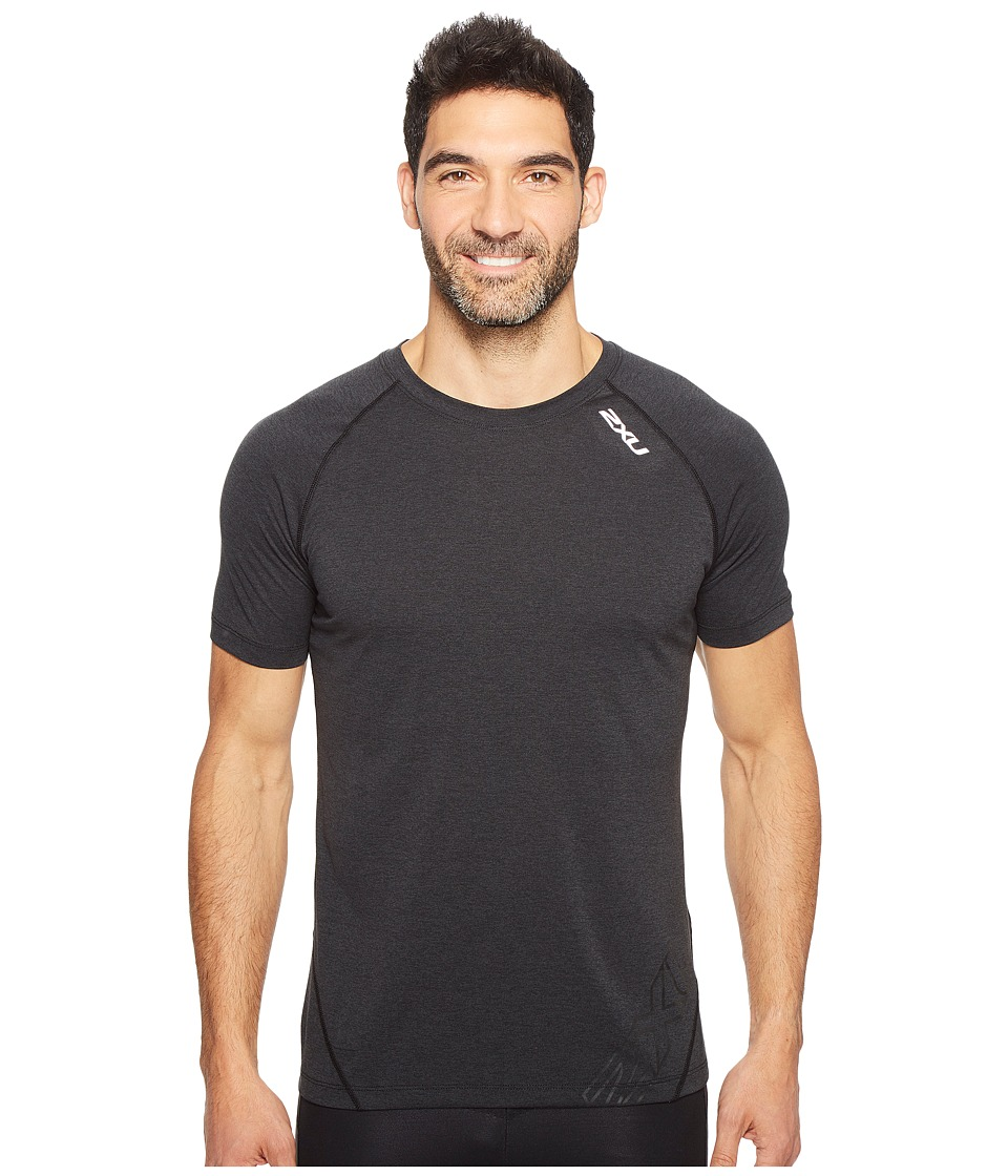 2XU - X-CTRL Tee (Black/Black) Men's T Shirt