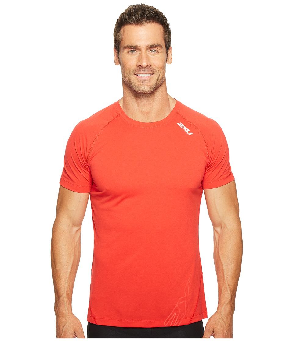 2XU - X-CTRL Tee (Flame Scarlet/Black) Men's T Shirt