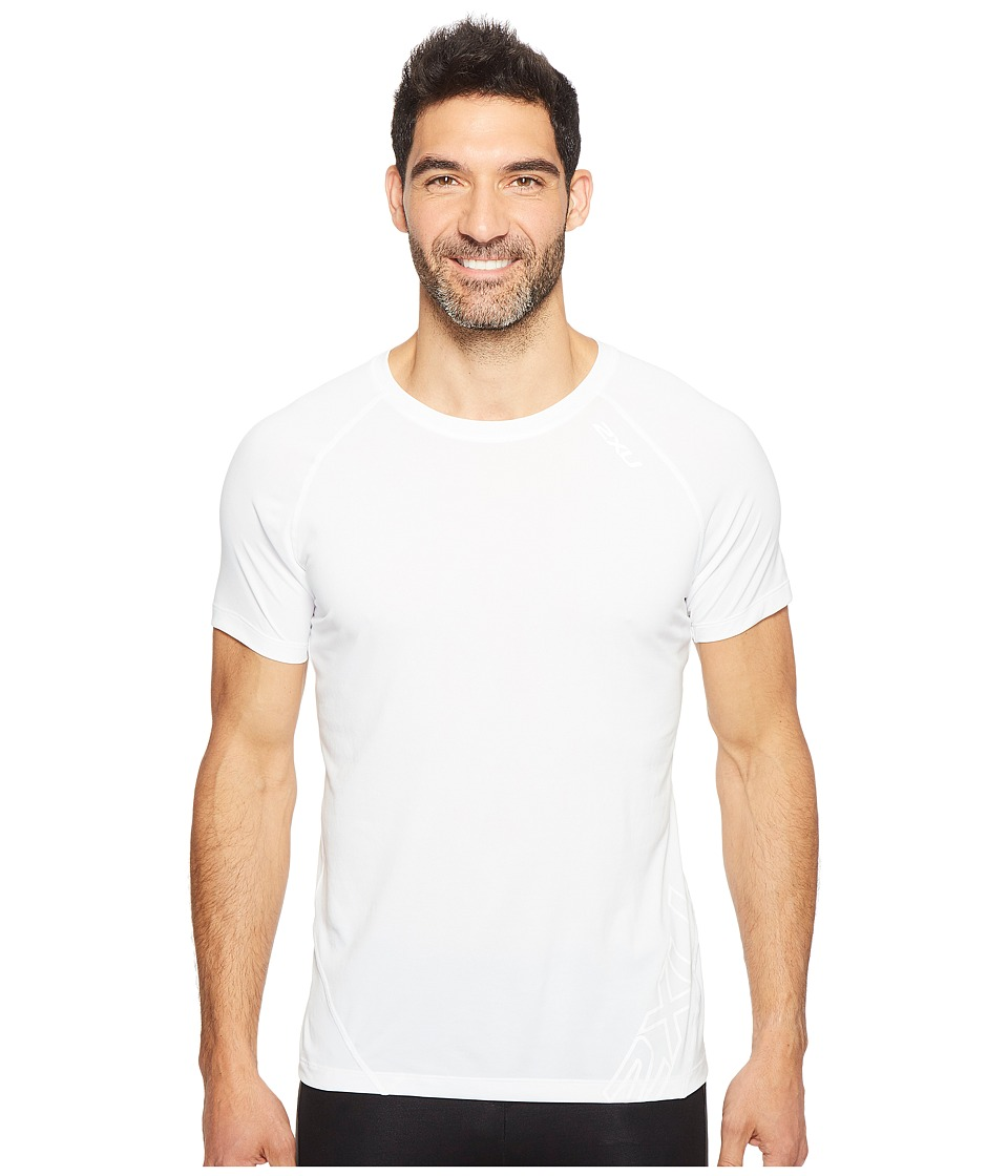 2XU - X-CTRL Tee (White/Black) Men's T Shirt