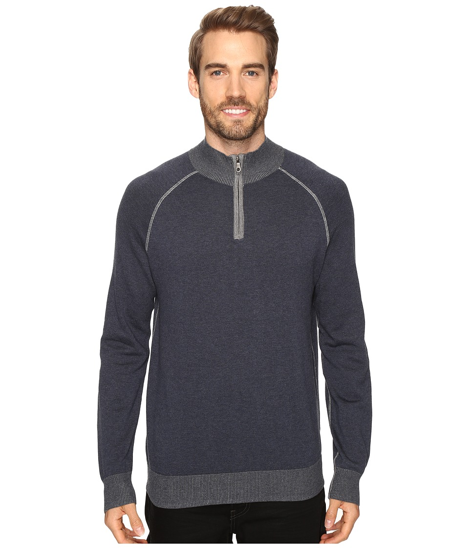 Agave Denim - Lundy Long Sleeve Supima Fine Gauge (India Ink) Men's Long Sleeve Pullover