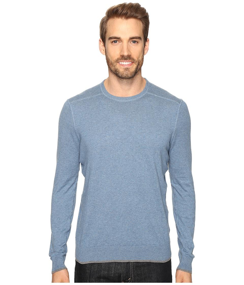 Agave Denim - Dawson Long Sleeve Supima Fine Gauge (Copen Blue) Men's Long Sleeve Pullover