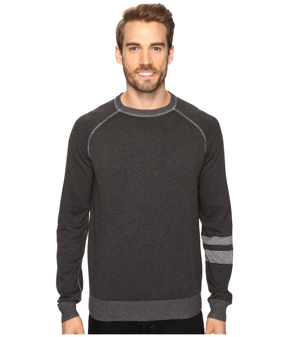 Agave Denim - Folsom Long Sleeve Supima Fine Gauge (Charcoal) Men's Long Sleeve Pullover