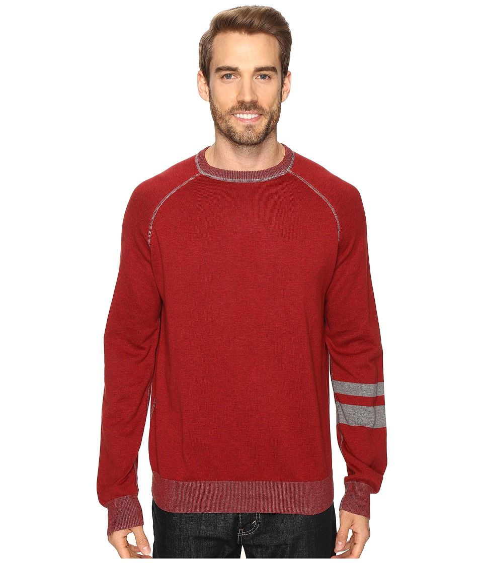 Agave Denim - Folsom Long Sleeve Supima Fine Gauge (Rosewood) Men's Long Sleeve Pullover