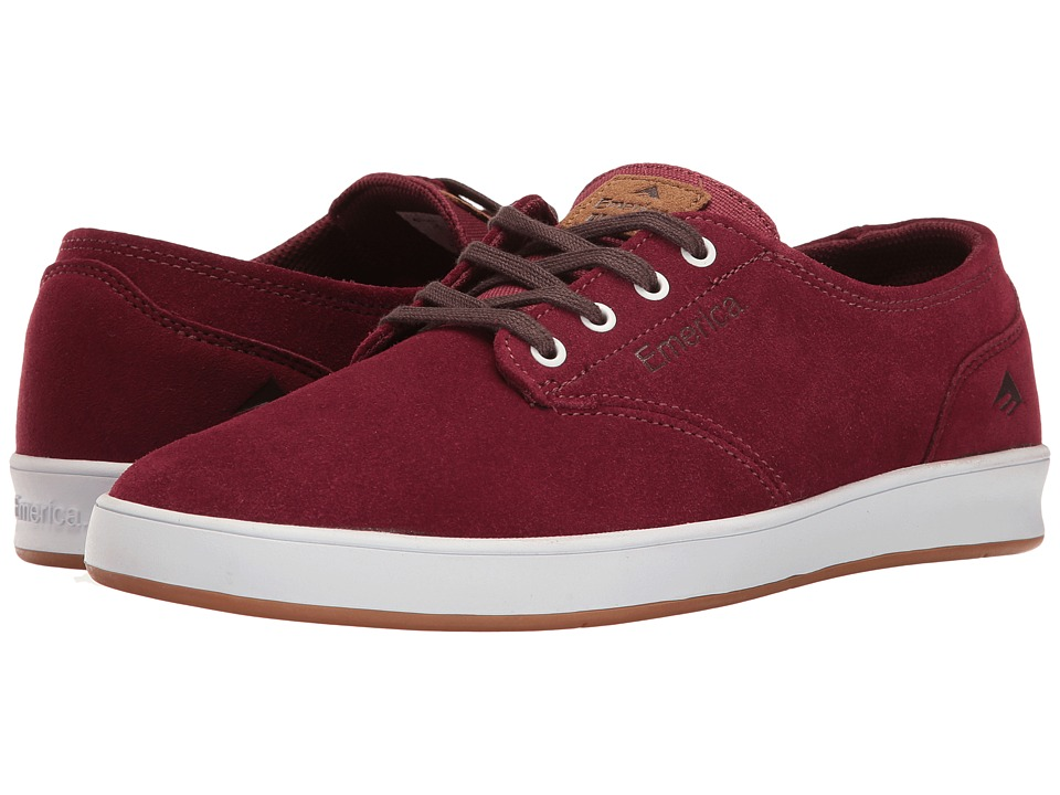 Emerica - The Romero Laced (Burgundy/White) Men's Skate Shoes