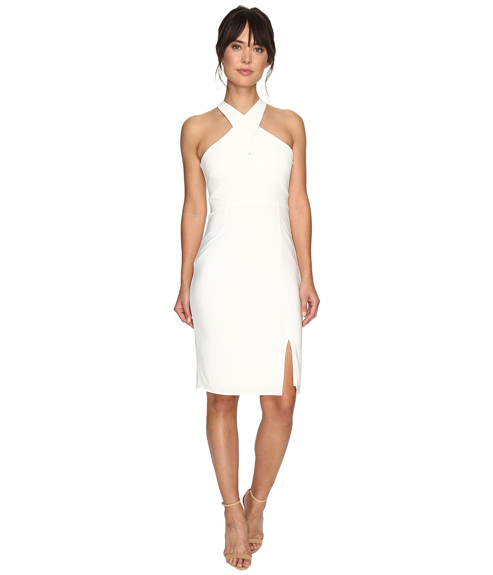 Laundry by Shelli Segal - Cross Front Matte Jersey Dress (Warm White) Women's Dress