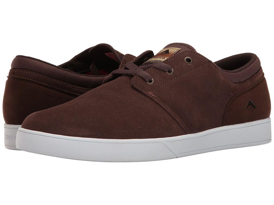 Emerica - The Figueroa (Brown/White/Gum) Men's Skate Shoes