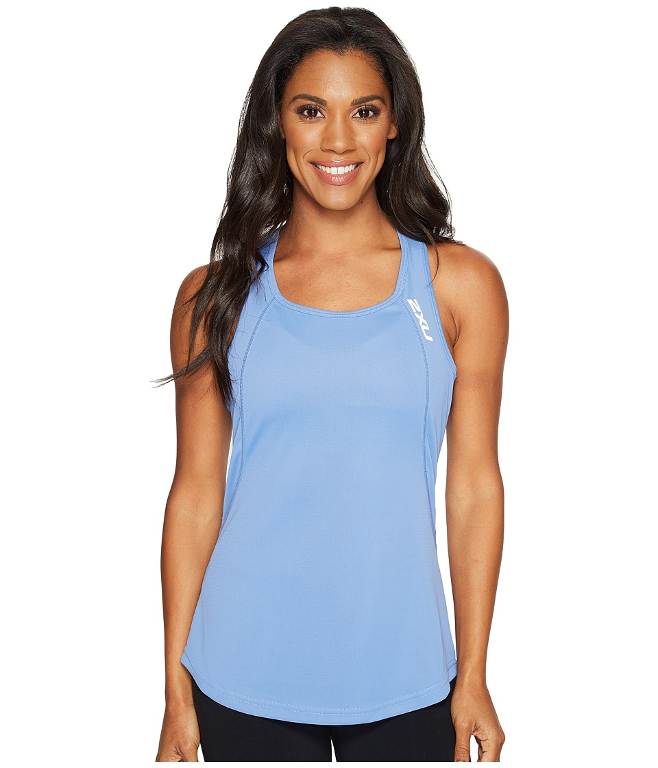 2XU X-Vent Tank Top (Colony Blue/Silver) Women