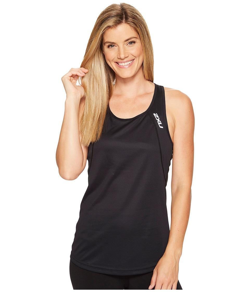 2XU - X-Vent Racerback Singlet (Black/Silver) Women's T Shirt