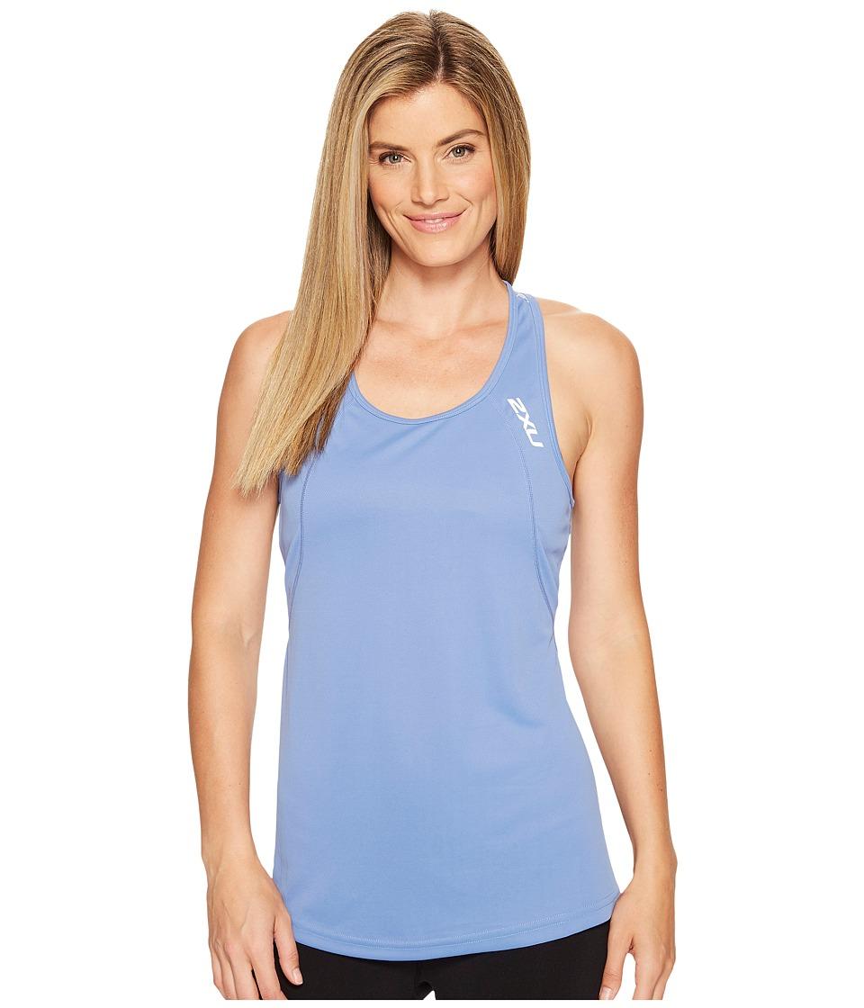 2XU - X-Vent Racerback Singlet (Colony Blue/Silver) Women's T Shirt