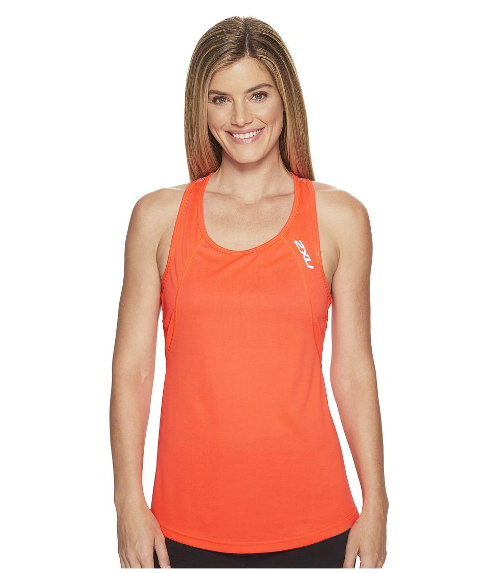 2XU - X-Vent Racerback Singlet (Fiery Coral/Silver) Women's T Shirt