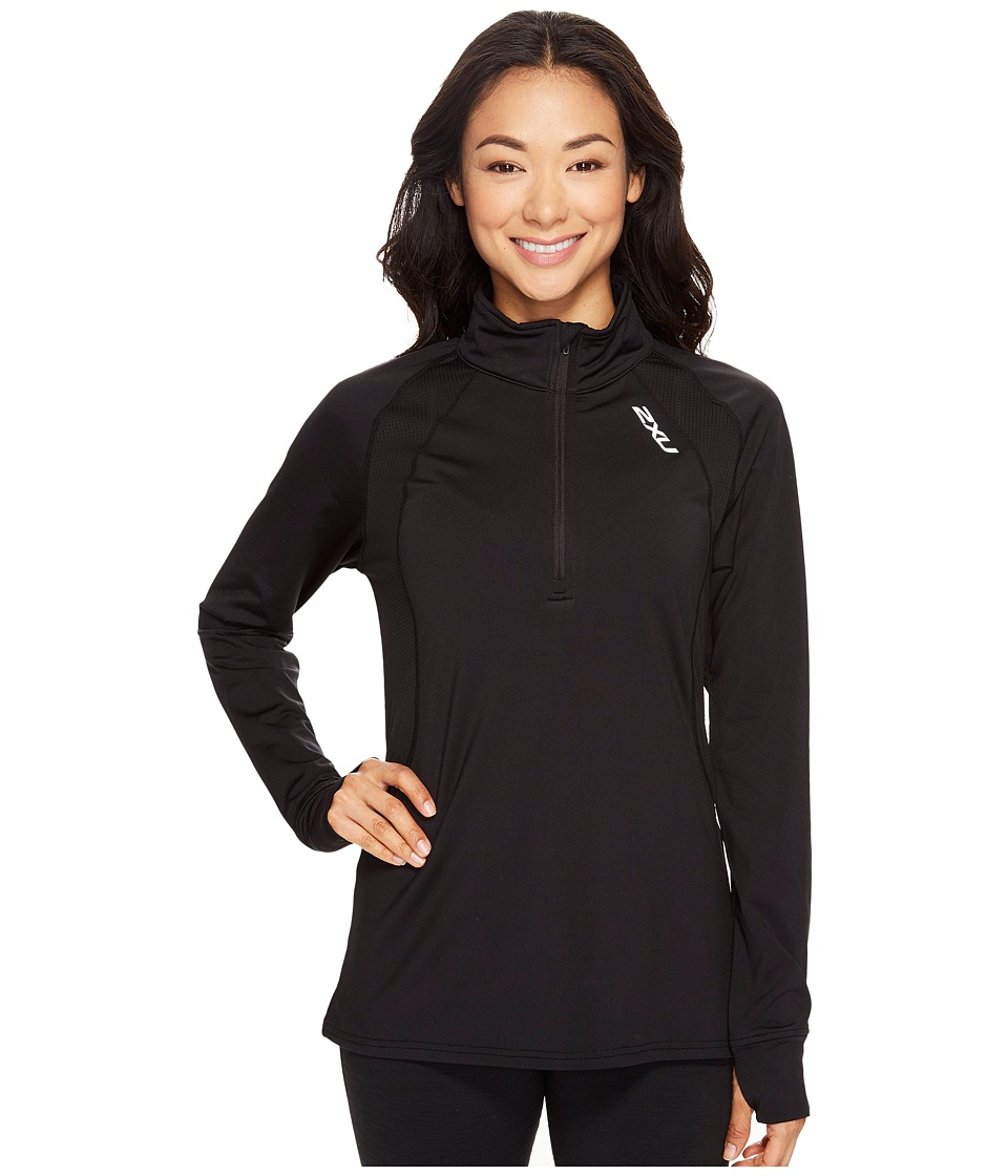 2XU - X-Vent Long Sleeve 1/4 Zip (Black/Black) Women's Long Sleeve Pullover