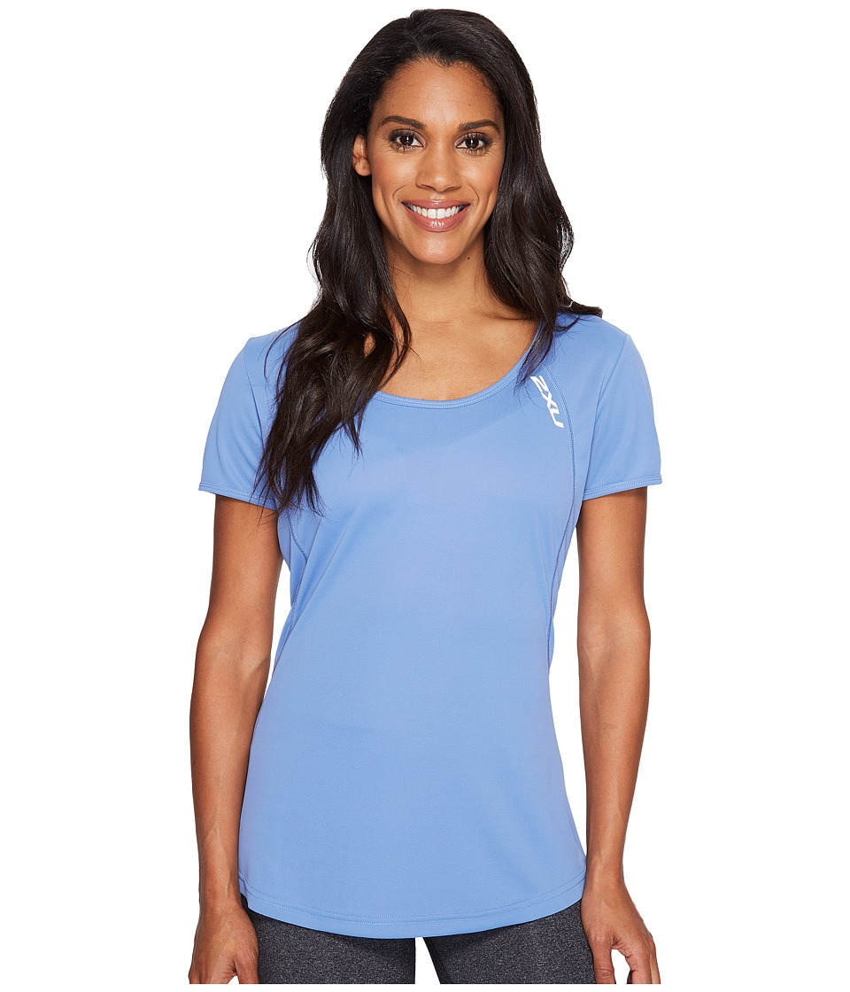 2XU X-Vent Tee (Colony Blue/Silver) Women