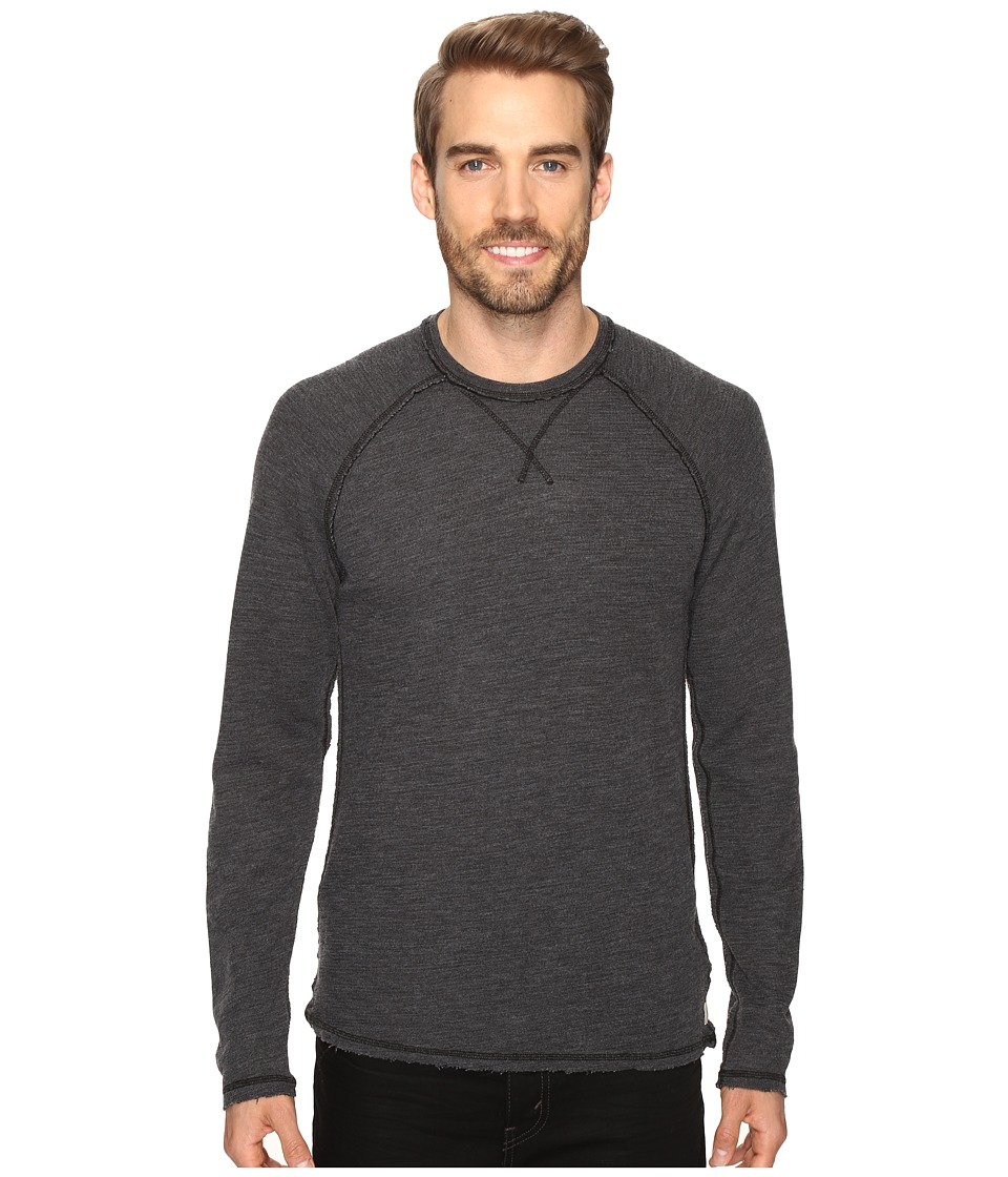 Agave Denim - Meridian Long SLeeve Slub Doubleface (Black) Men's Long Sleeve Pullover