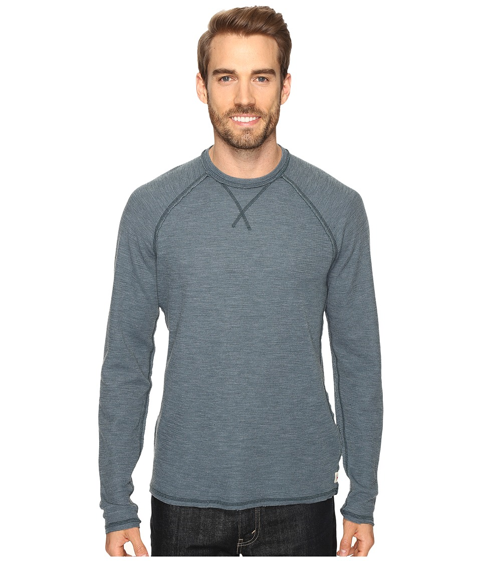 Agave Denim - Meridian Long SLeeve Slub Doubleface (Orion Blue) Men's Long Sleeve Pullover