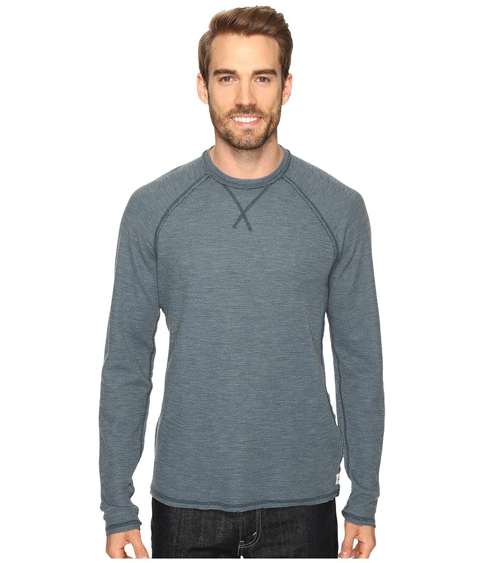 Agave Denim - Meridian Long SLeeve Slub Doubleface (Orion Blue) Men's Long Sleeve Pullover