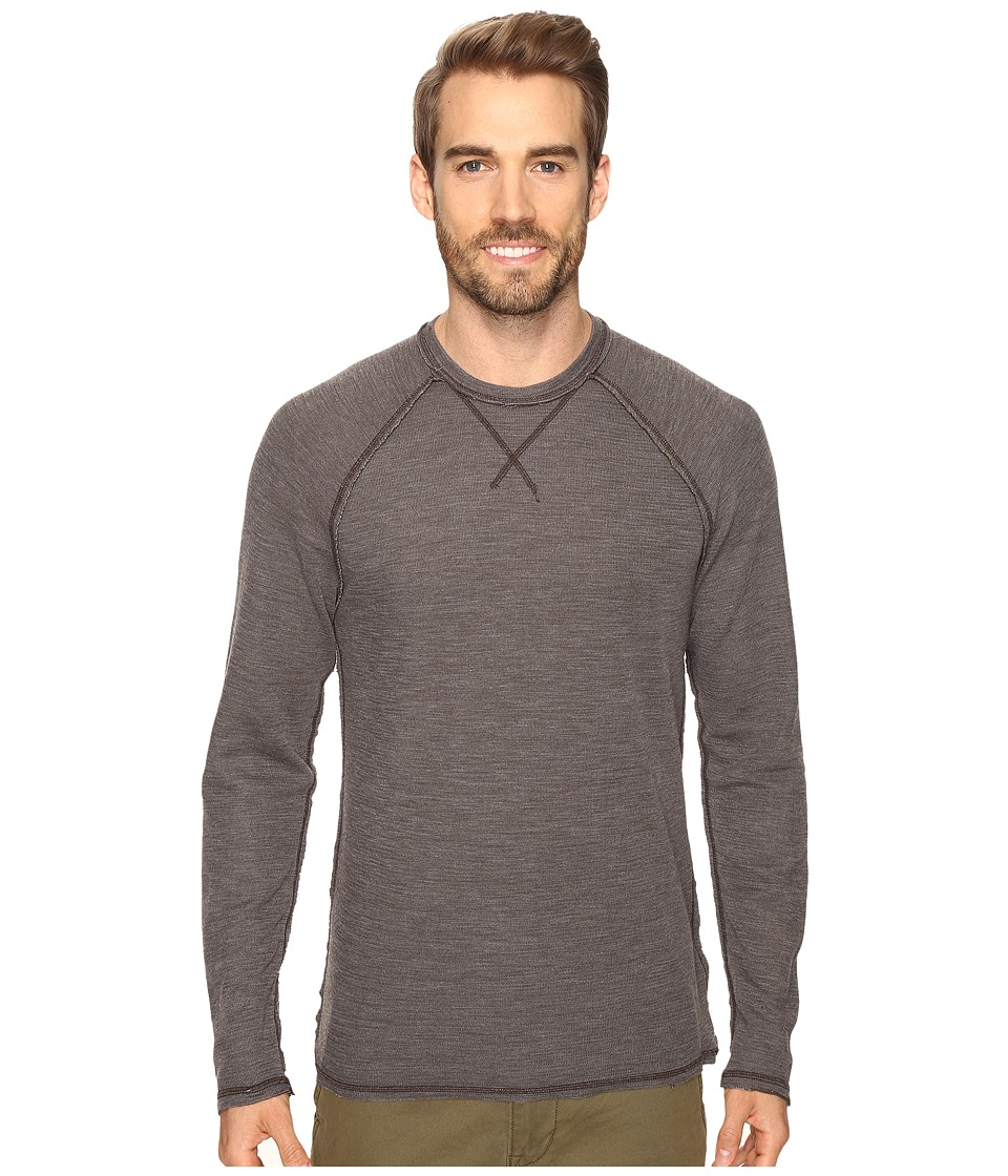 Agave Denim Meridian Long SLeeve Slub Doubleface (Turkish Coffee) Men's Long Sleeve Pullover