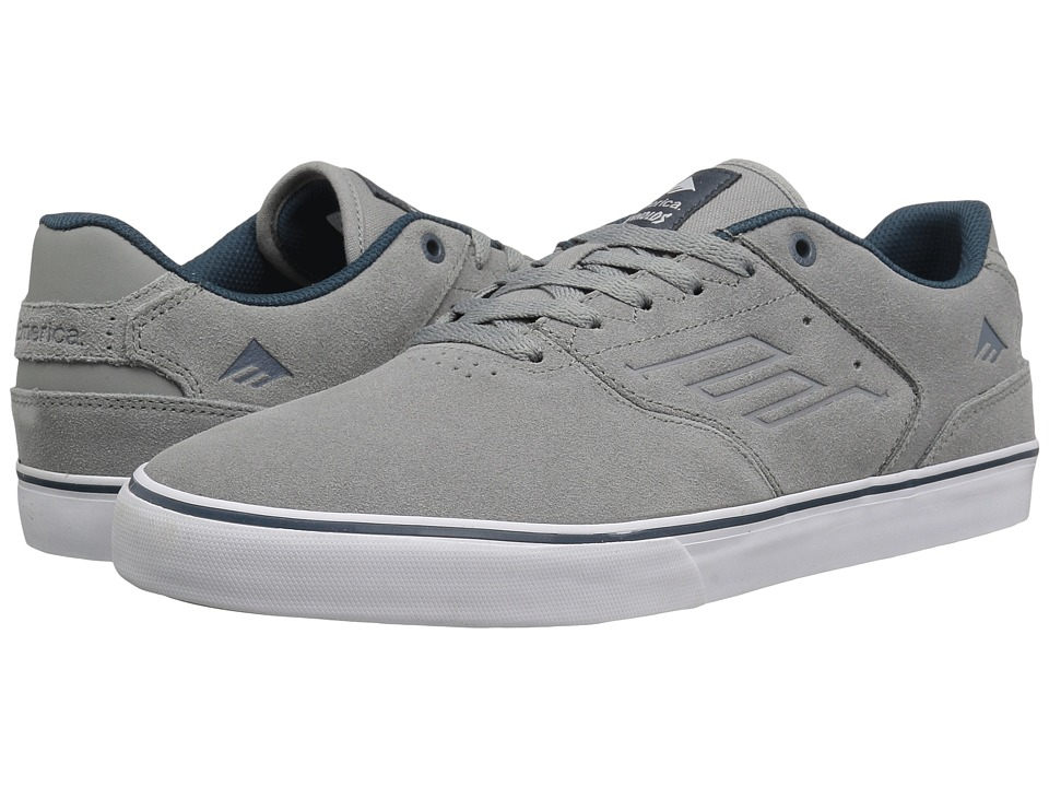 Emerica - The Reynolds Low Vulc (Grey/Blue) Men's Skate Shoes