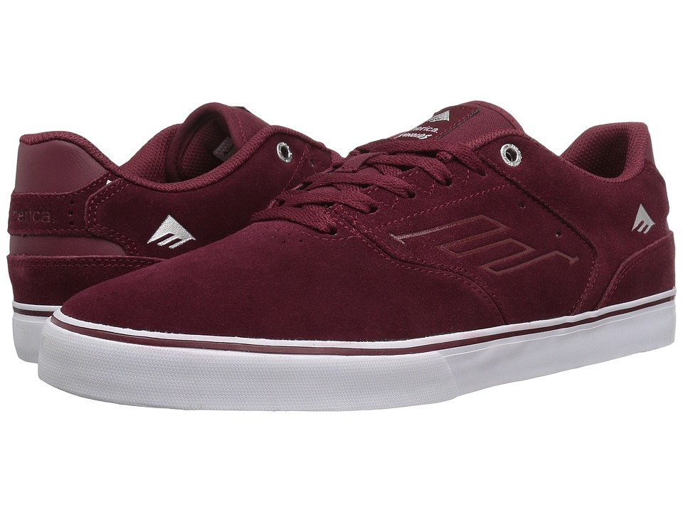 Emerica - The Reynolds Low Vulc (Red/White/Gum) Men's Skate Shoes