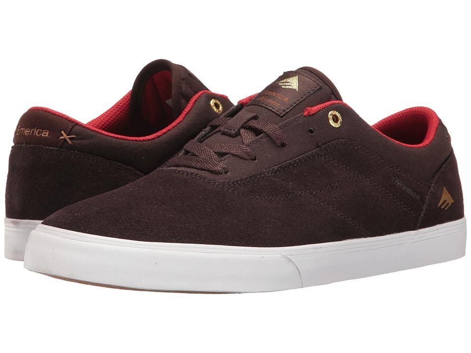 Emerica - The Herman G6 Vulc (Brown/White) Men's Skate Shoes