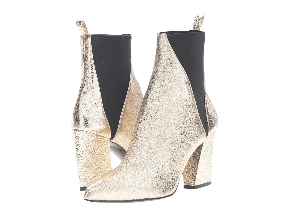 ASKA - Troy (Crackle Gold) Women's Boots