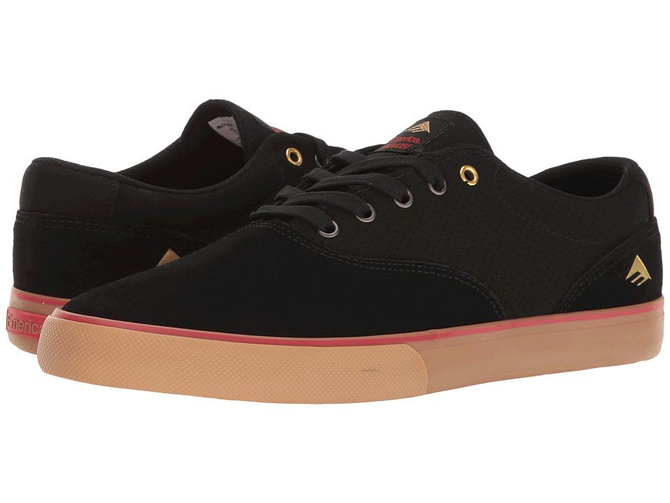 Emerica - The Provost Slim Vulc (Black/Gum) Men's Skate Shoes
