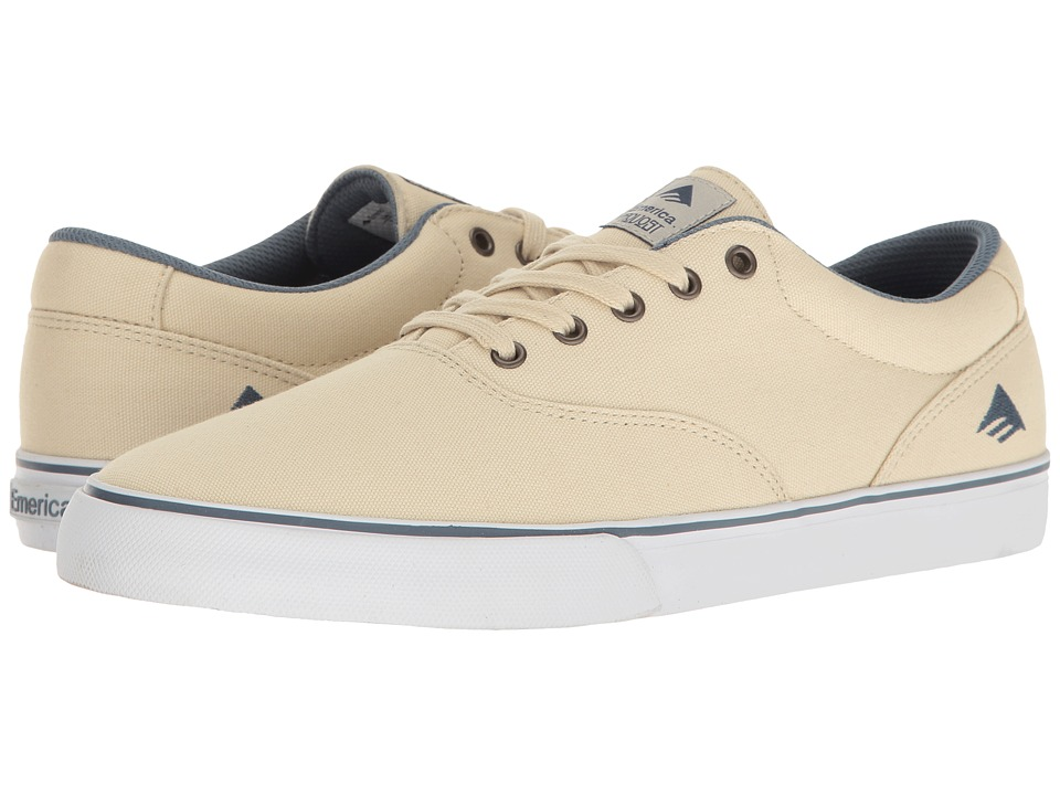 Emerica - The Provost Slim Vulc (White/Blue) Men's Skate Shoes
