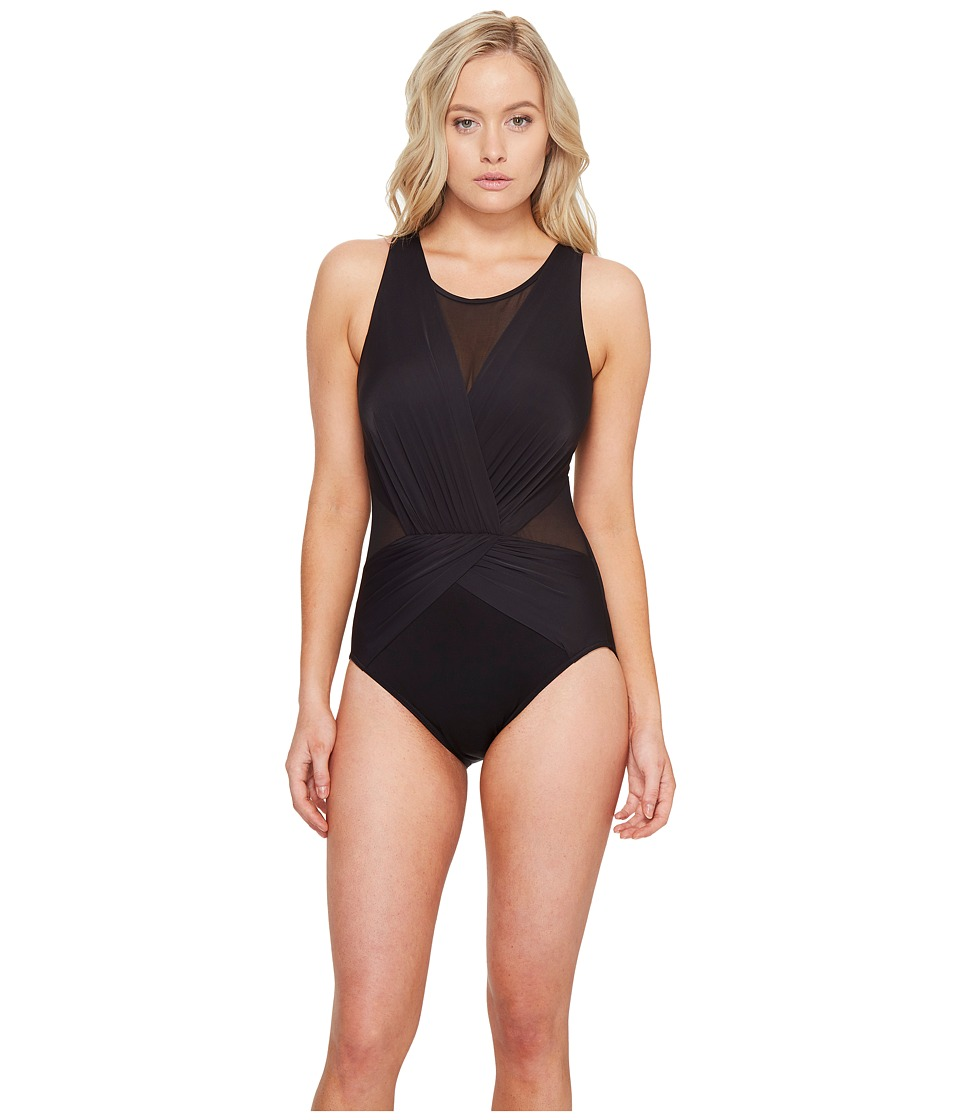 Miraclesuit - Solids Palma One-Piece (DD-Cup) (Black) Women's Swimsuits One Piece