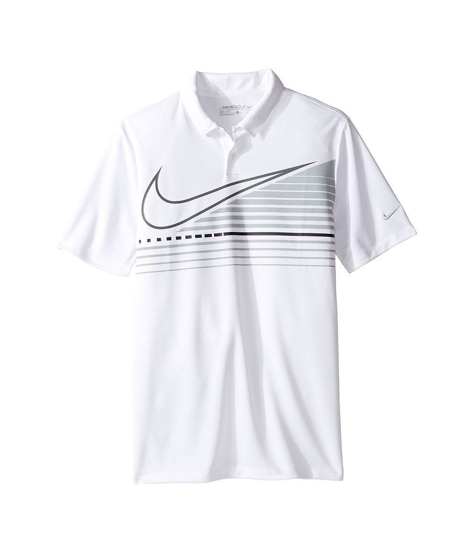 Nike Kids - Victory Graphic Polo (Little Kids/Big Kids) (White/Flint Silver) Boy's Short Sleeve Pullover