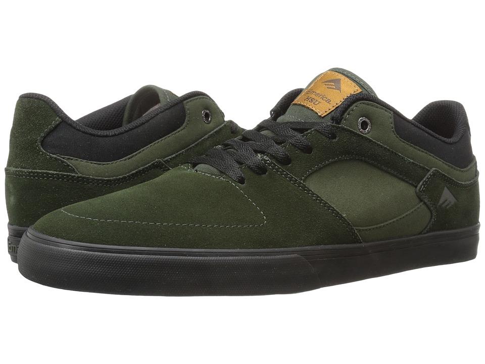 Emerica - The Hsu Low Vulc (Green/Black) Men's Shoes