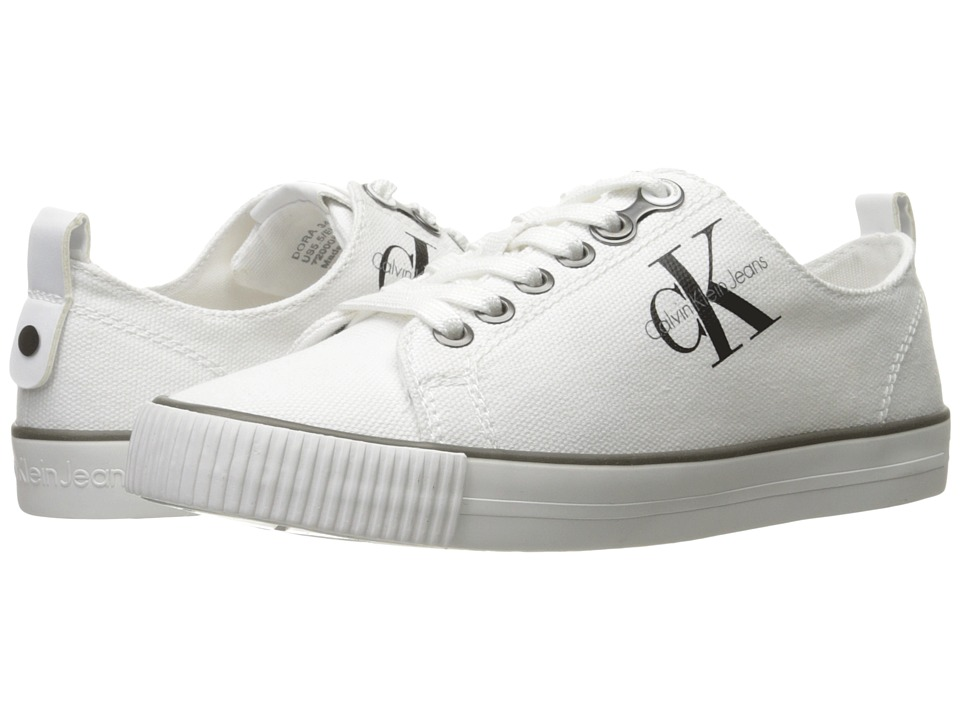 Calvin Klein - Dora (White Canvas) Women's Shoes