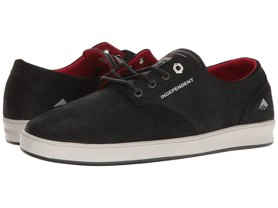 Emerica - Romero Laced X Indy (Black/Grey/Black) Men's Skate Shoes