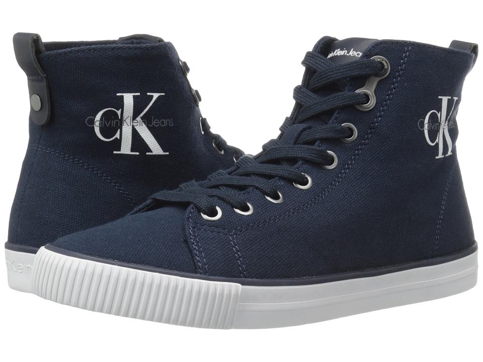 Calvin Klein - Dolores (Navy Canvas) Women's Shoes