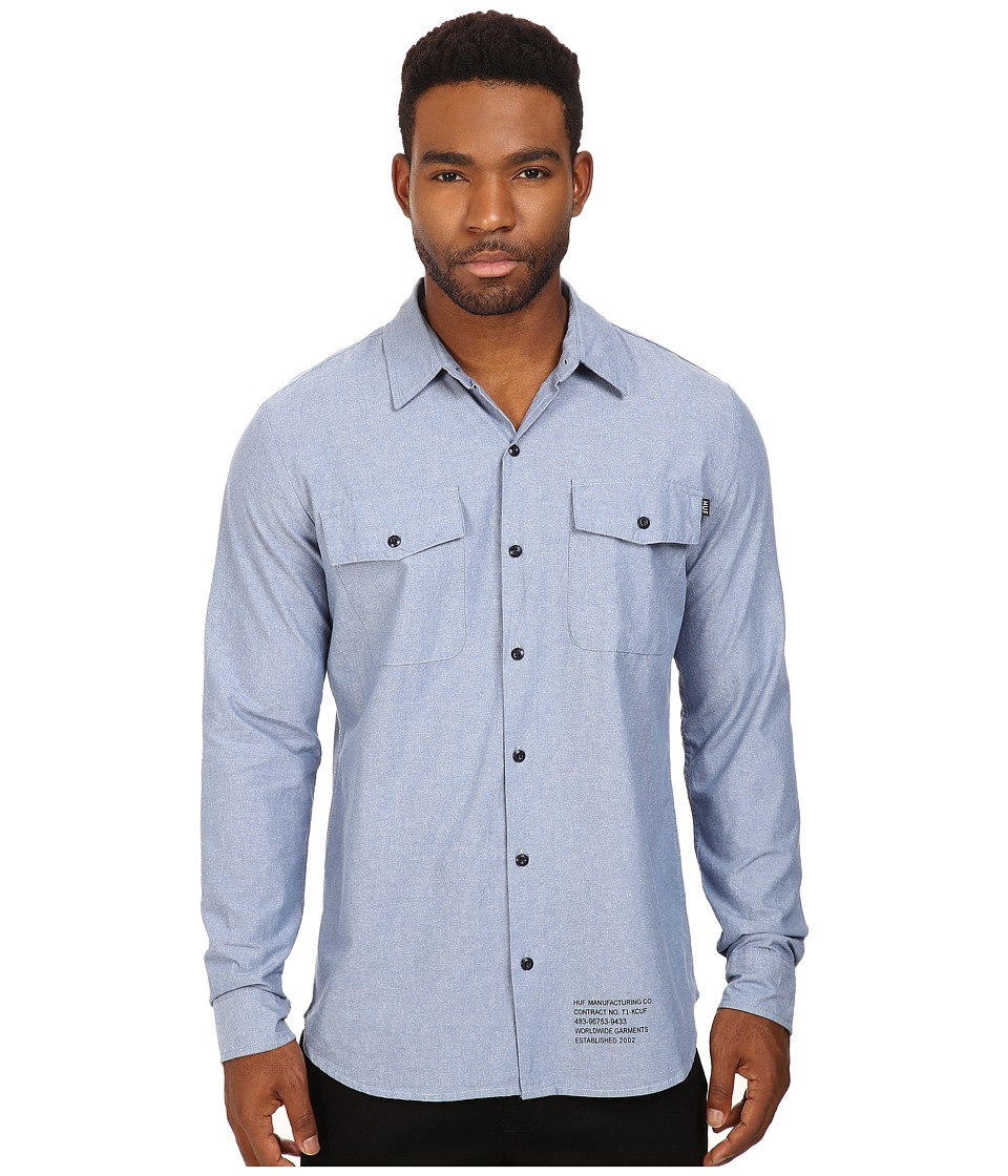 HUF - Chambray Shirt (Blue) Men's T Shirt