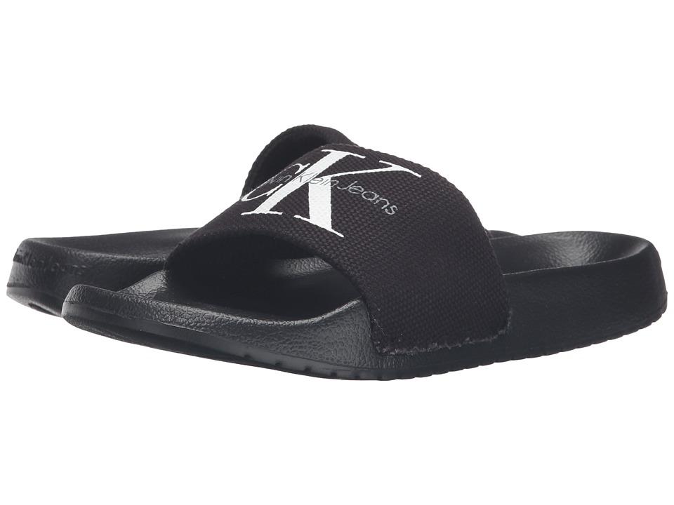 Calvin Klein - Chantal (Black Canvas) Women's Wedge Shoes