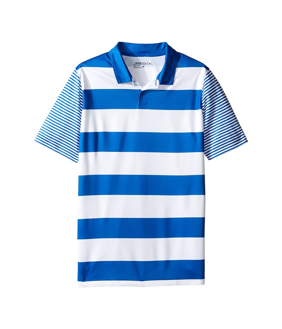 Nike Kids - Bold Stripe Polo (Little Kids/Big Kids) (Game Royal/Black) Boy's Short Sleeve Pullover