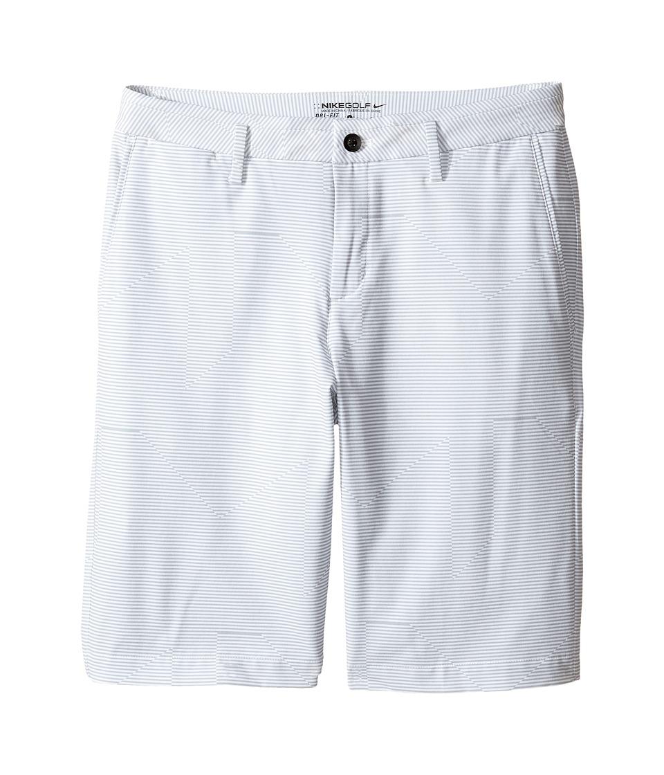 Nike Kids - Novelty Print Shorts (Little Kids/Big Kids) (White/Wolf Grey/Anthracite) Boy's Shorts