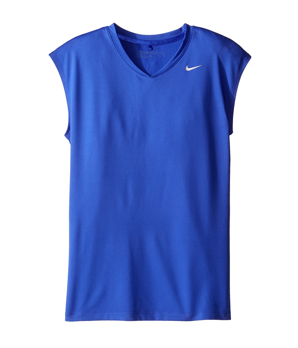 Nike Kids - Greens Top (Little Kids/Big Kids) (Paramount Blue/Metallic Silver) Girl's Short Sleeve Pullover