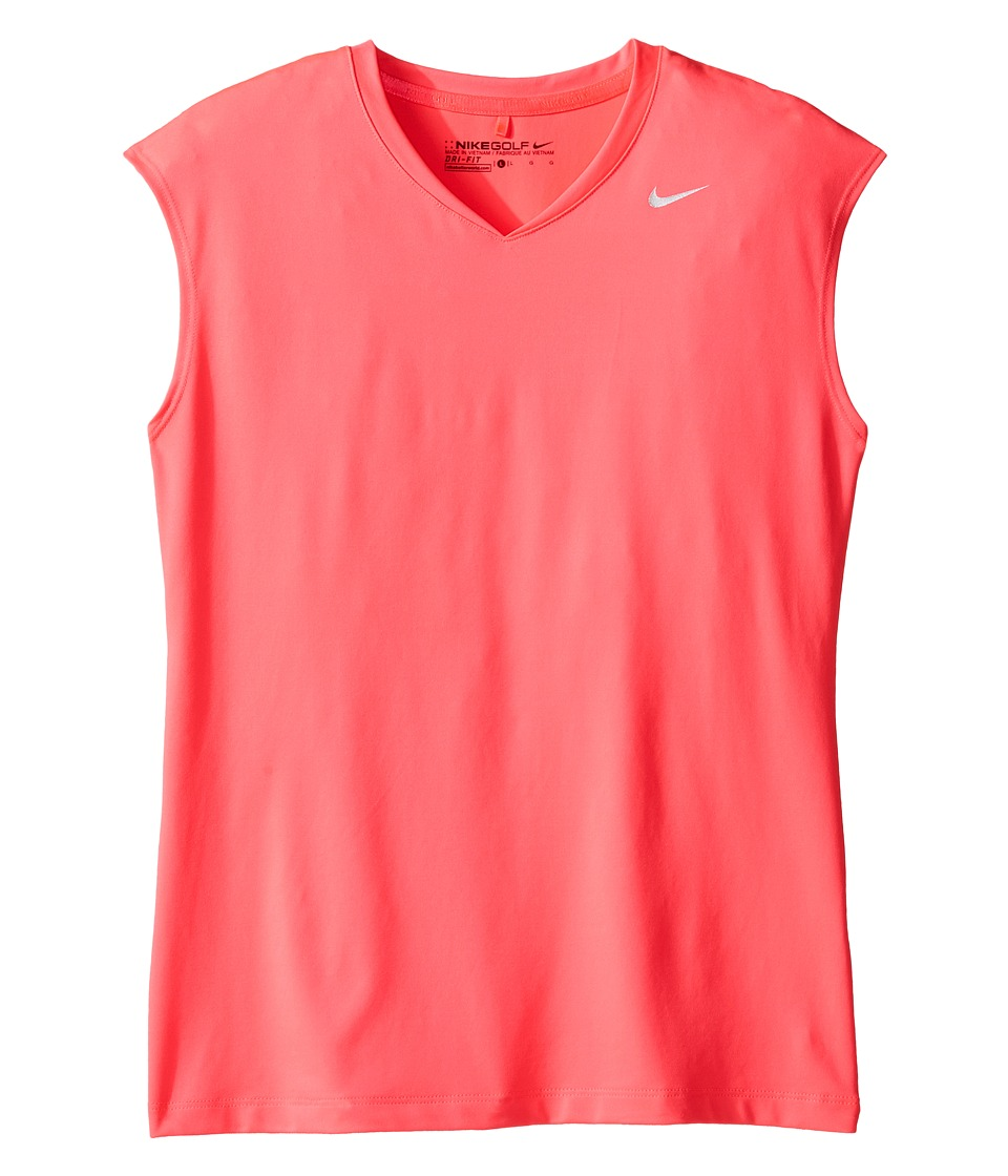 Nike Kids - Greens Top (Little Kids/Big Kids) (Racer Pink/Metallic Silver) Girl's Short Sleeve Pullover
