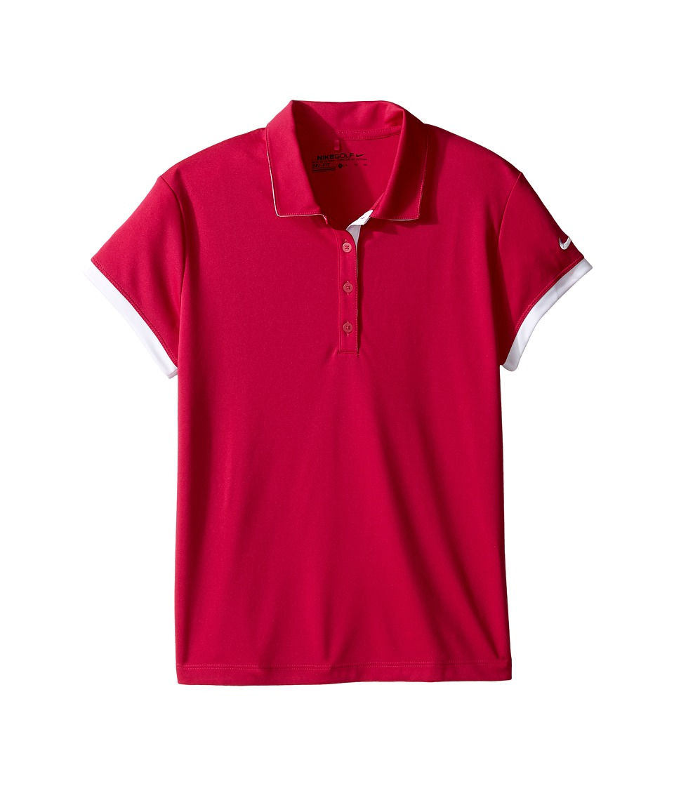 Nike Kids - Victory Polo (Little Kids/Big Kids) (Sport Fuchsia/White/White) Girl's Short Sleeve Knit