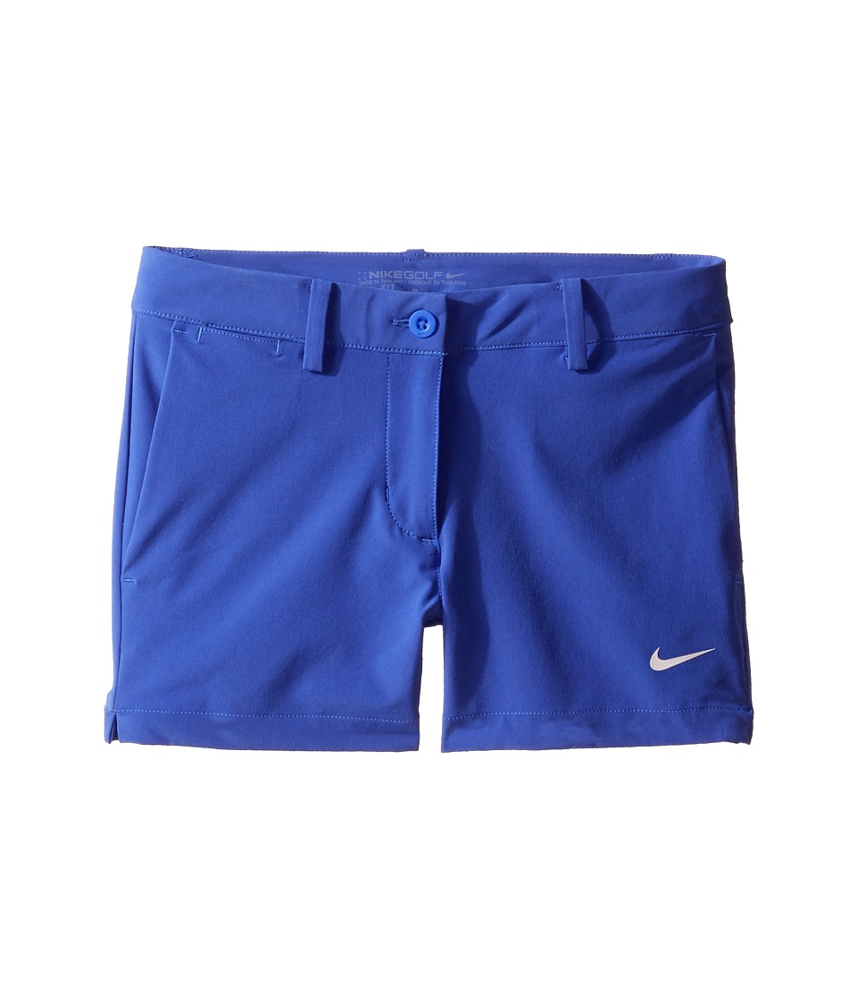 Nike Kids - Shorts (Little Kids/Big Kids) (Paramount Blue/Metallic Silver) Girl's Shorts