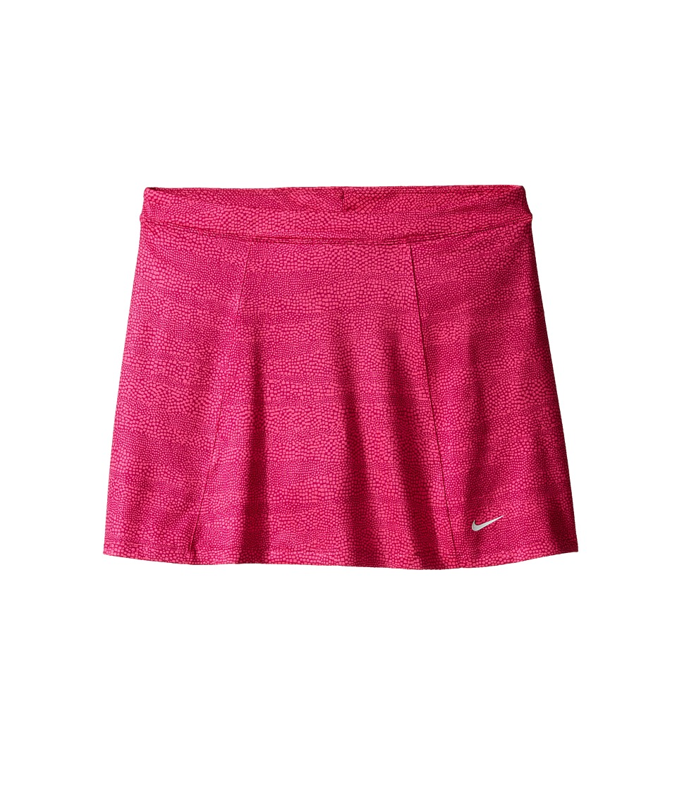 Nike Kids - Printed Skort (Little Kids/Big Kids) (True Berry/Vivid Pink/Metallic Silver) Girl's Skort