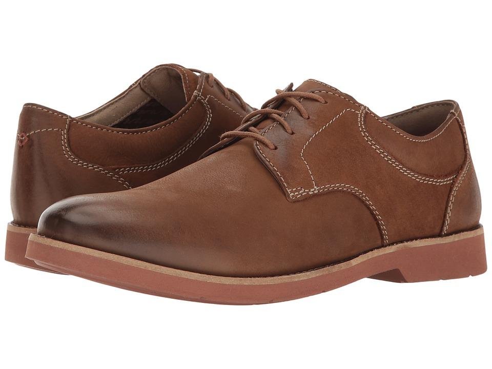 Bostonian - Pariden Plain (Tan Nubuck/Brick) Men's Lace Up Cap Toe Shoes
