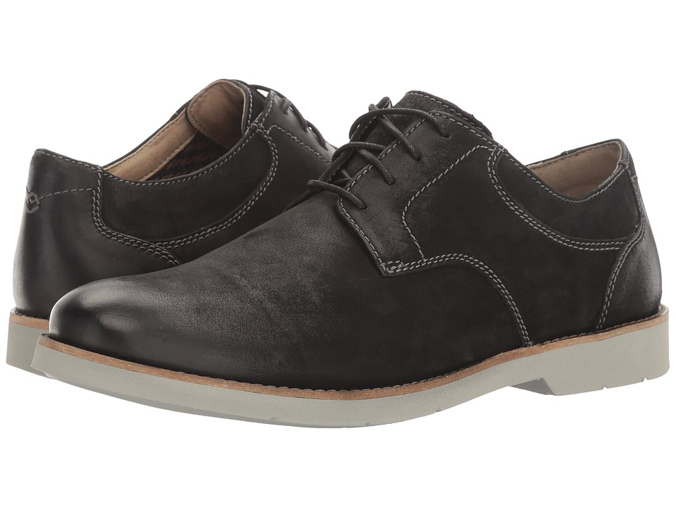 Bostonian - Pariden Plain (Black Nubuck/Grey) Men's Lace Up Cap Toe Shoes