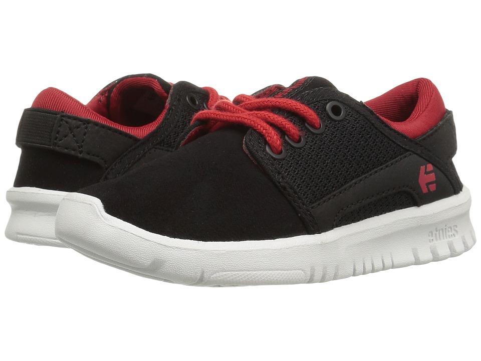 etnies Kids - Scout (Toddler/Little Kid/Big Kid) (Black/Red/Black) Boys Shoes
