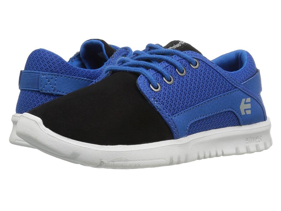 etnies Kids Scout (Toddler/Little Kid/Big Kid) (Black/Blue/Grey) Boys Shoes