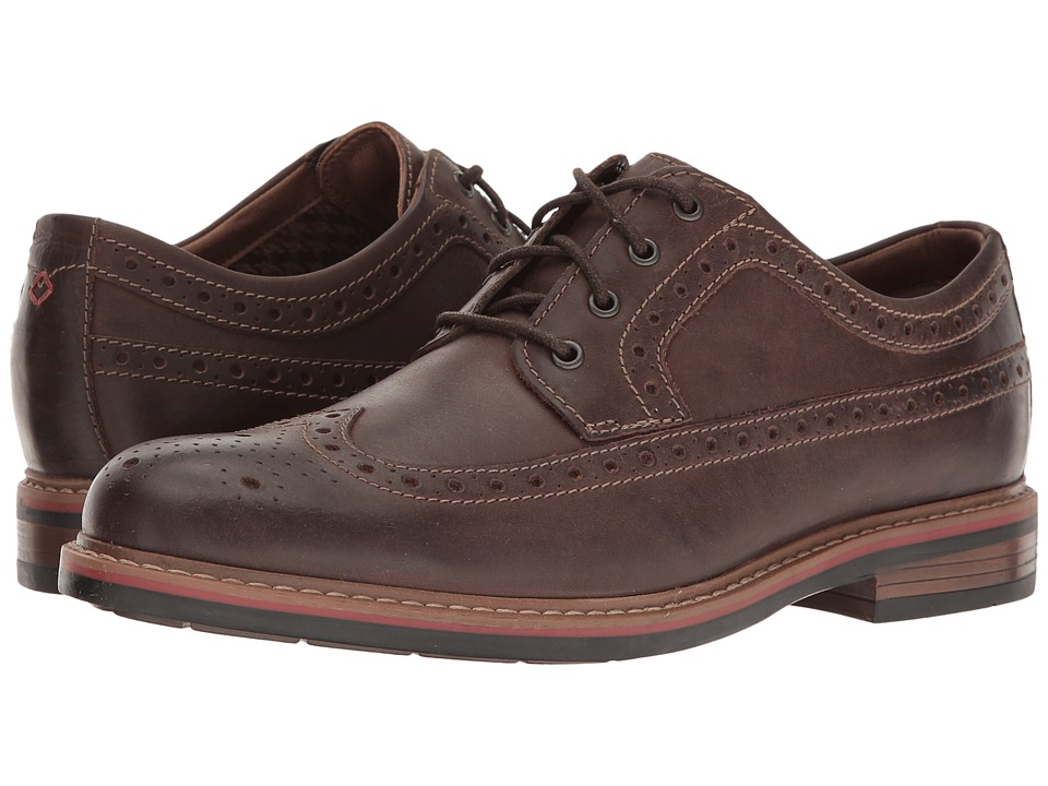Bostonian - Melshire Wing (Brown Leather) Men's Lace Up Wing Tip Shoes